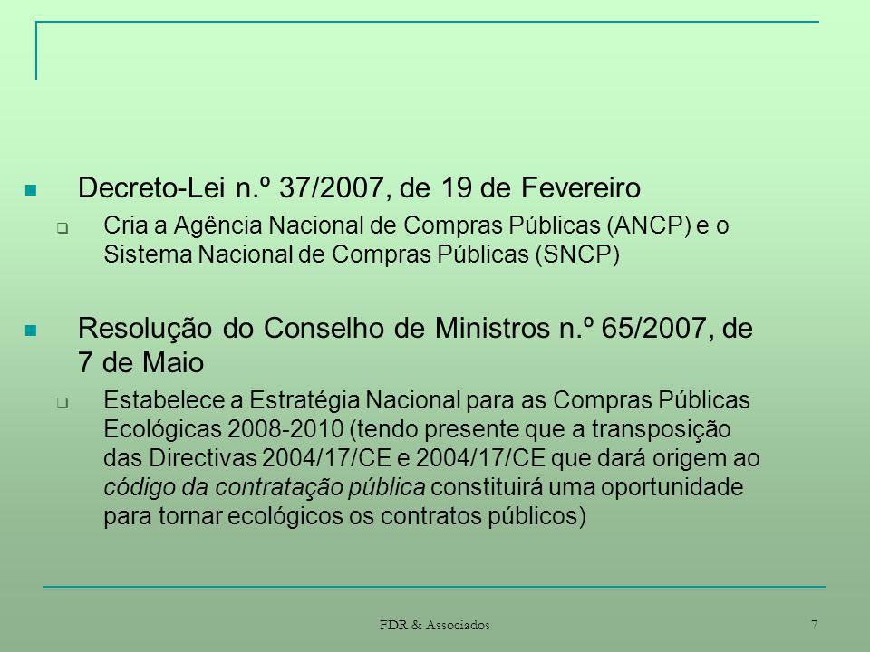 Decreto-Lei n.º 37/2007, de 19 de Fevereiro