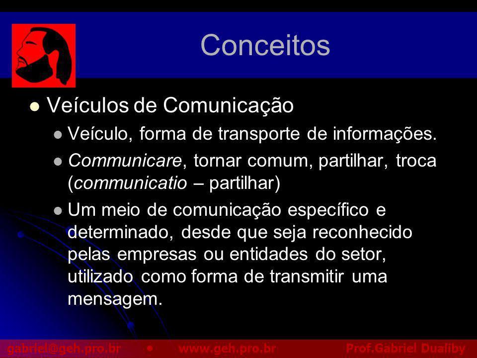 Conceitos Veículos de Comunicação
