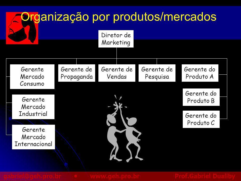 Organização por produtos/mercados