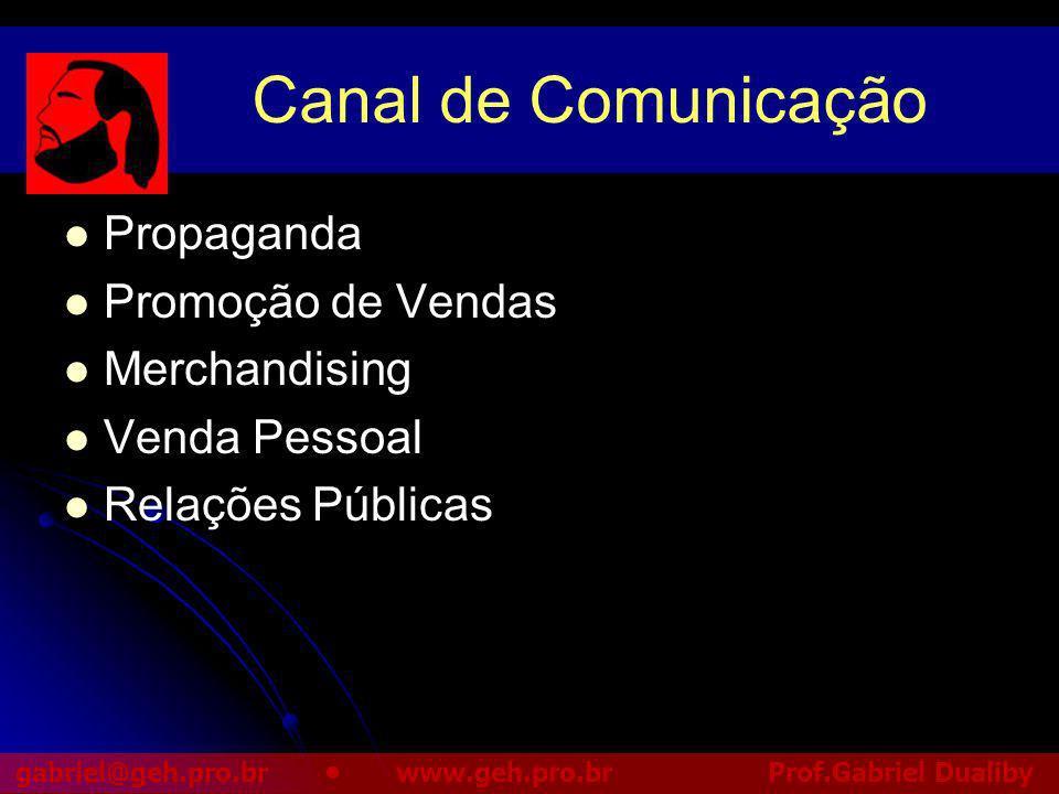 Canal de Comunicação Propaganda Promoção de Vendas Merchandising