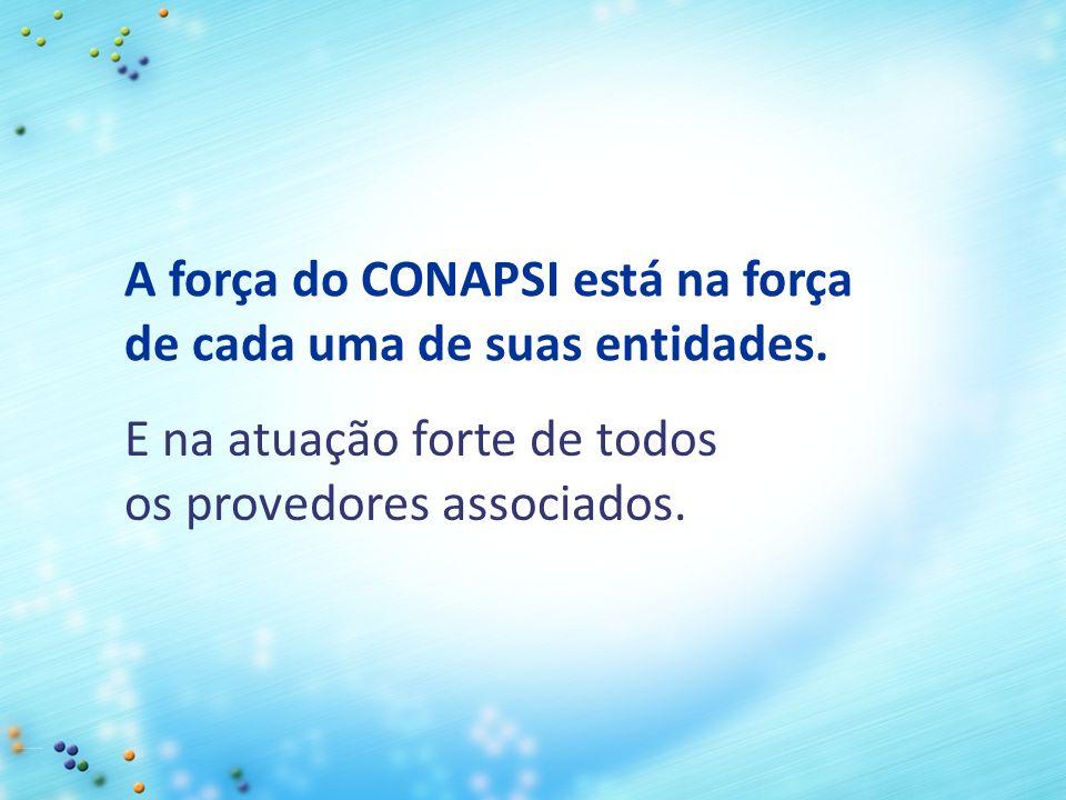 A força do CONAPSI está na força de cada uma de suas entidades.