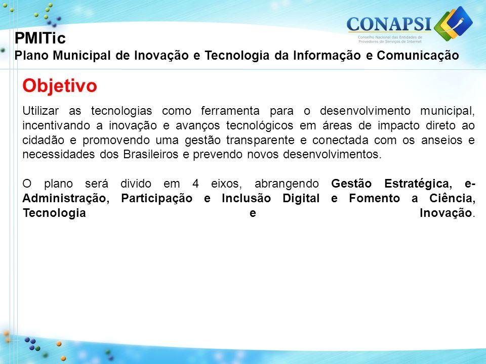 PMITic Plano Municipal de Inovação e Tecnologia da Informação e Comunicação. Objetivo.