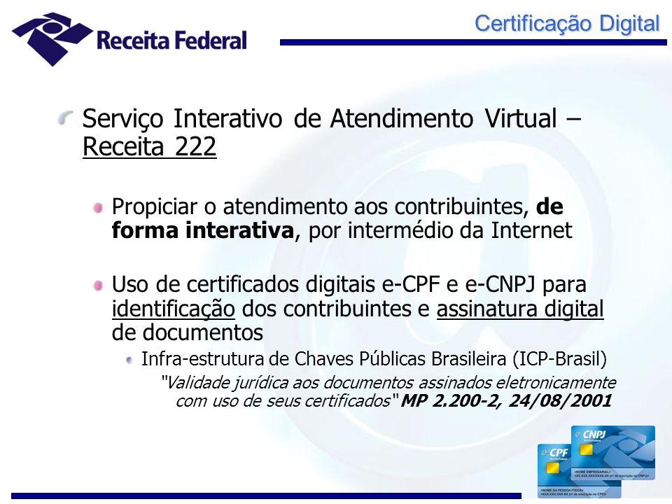 Serviço Interativo de Atendimento Virtual – Receita 222