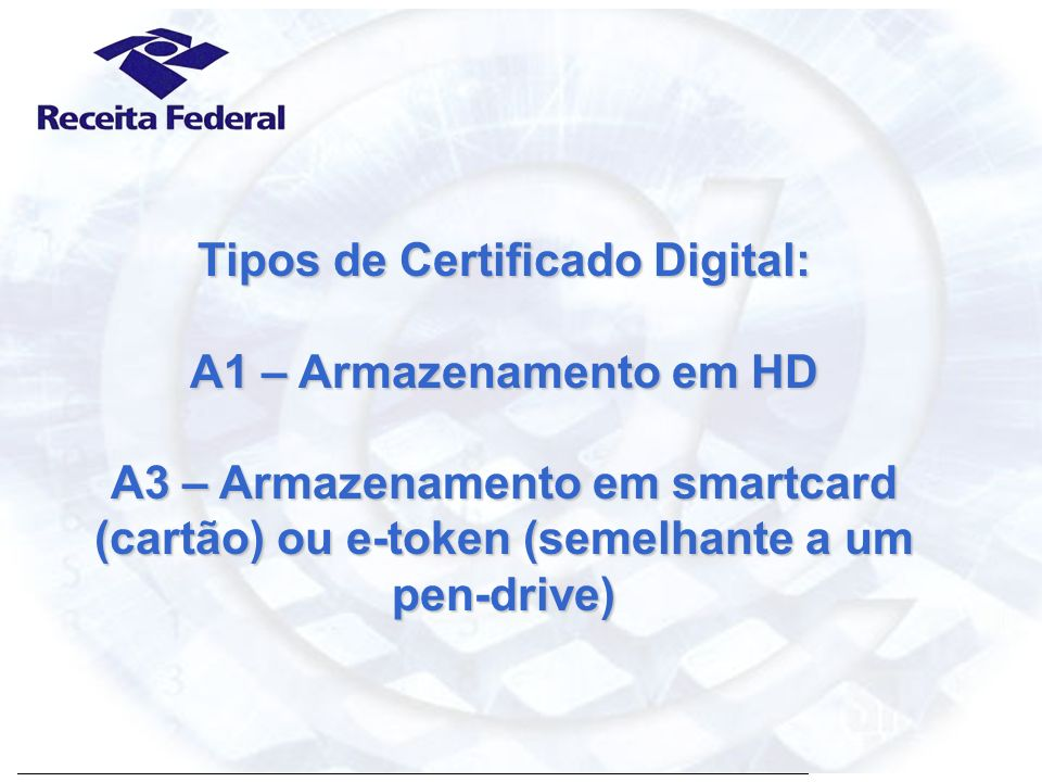 Tipos de Certificado Digital:
