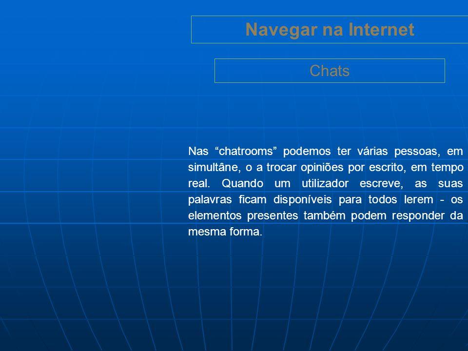 Navegar na Internet Chats