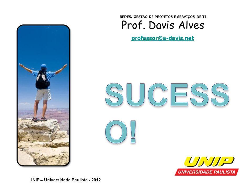REDES, GESTÃO DE PROJETOS E SERVIÇOS DE TI Prof. Davis Alves