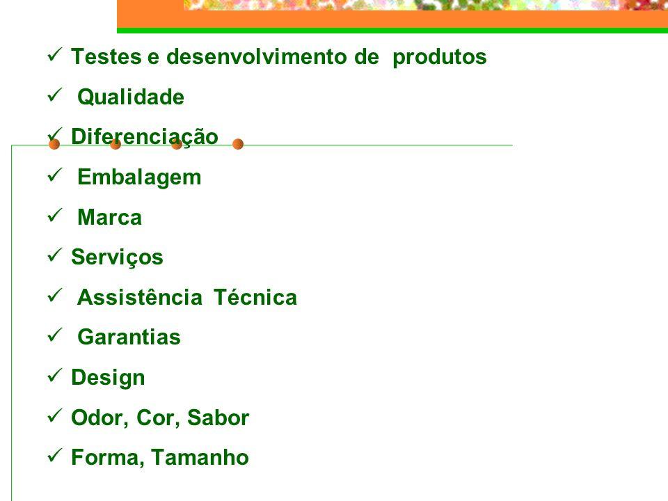 Testes e desenvolvimento de produtos