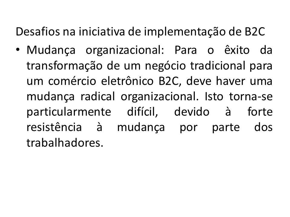 Desafios na iniciativa de implementação de B2C