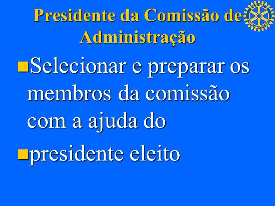 Presidente da Comissão de Administração