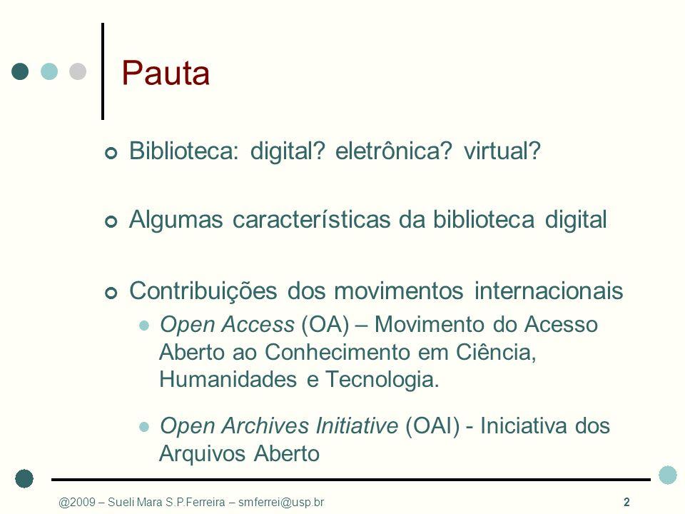 Pauta Biblioteca: digital eletrônica virtual