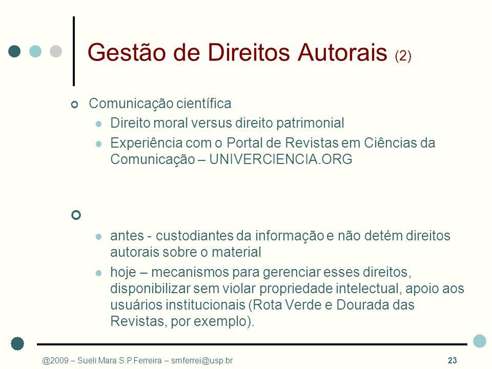 Gestão de Direitos Autorais (2)