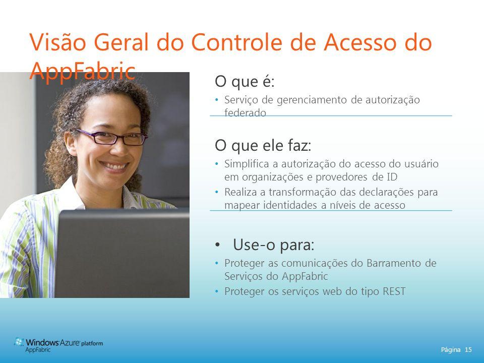 Visão Geral do Controle de Acesso do AppFabric