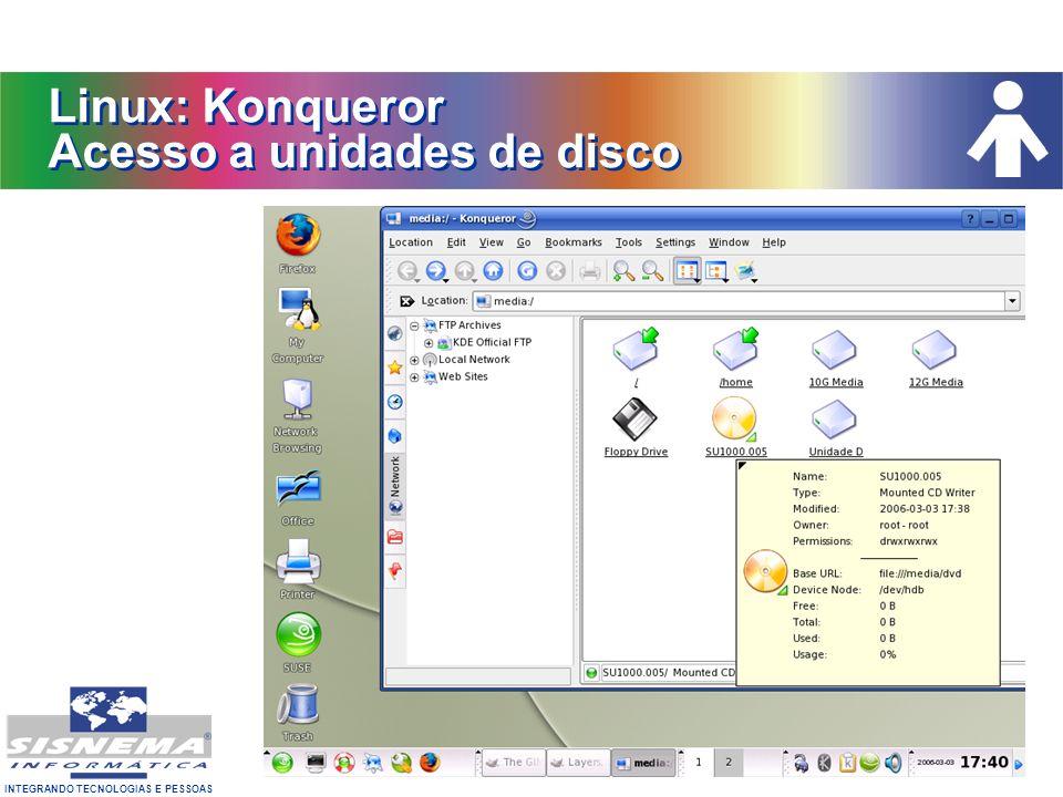 Linux: Konqueror Acesso a unidades de disco