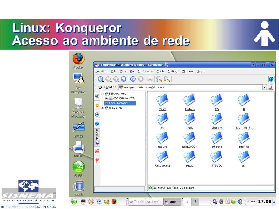 Linux: Konqueror Acesso ao ambiente de rede