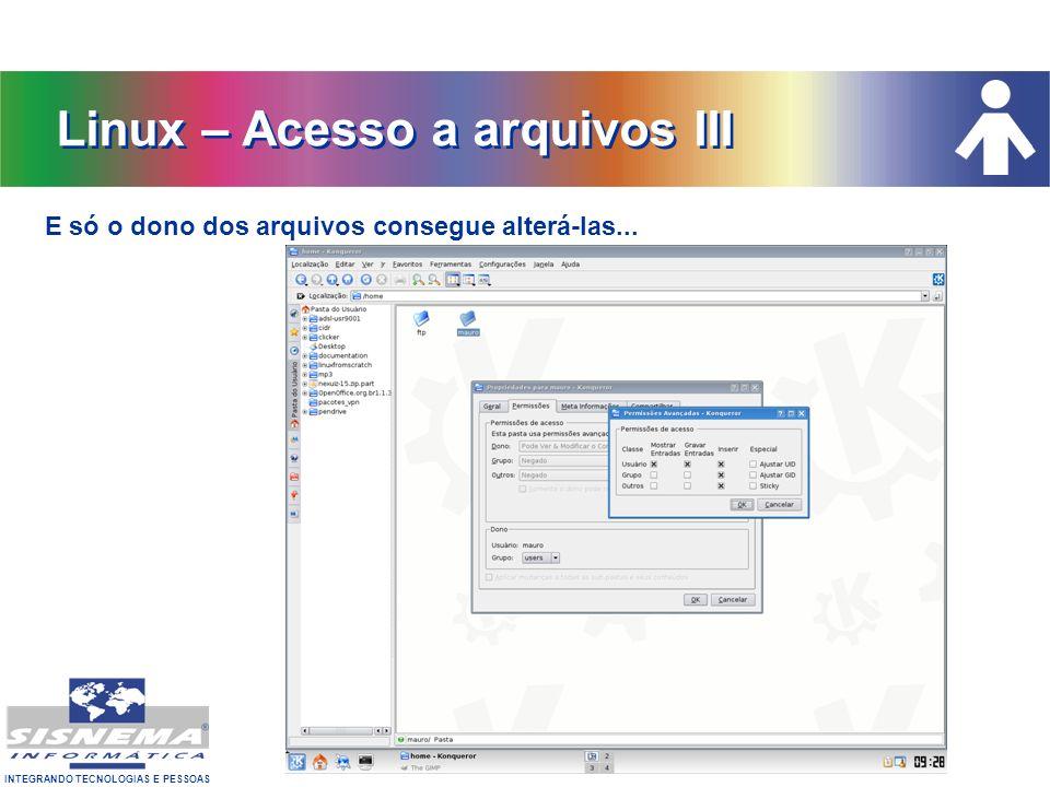 Linux – Acesso a arquivos III