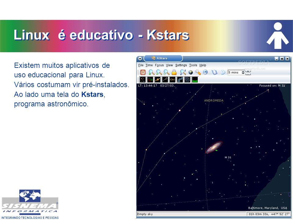 Linux é educativo - Kstars