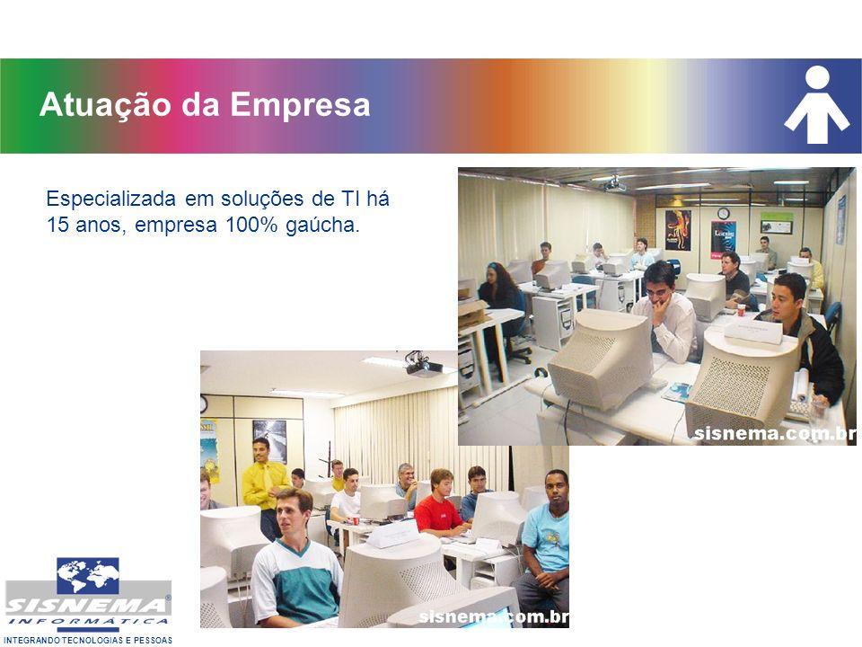 Atuação da Empresa Especializada em soluções de TI há 15 anos, empresa 100% gaúcha.