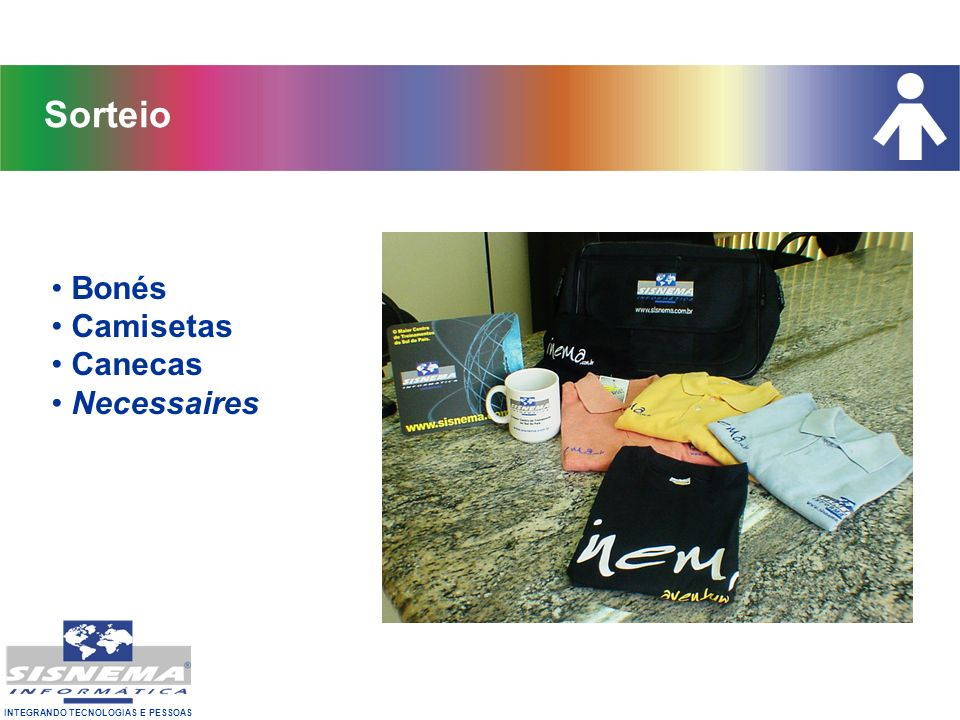 Sorteio Bonés Camisetas Canecas Necessaires