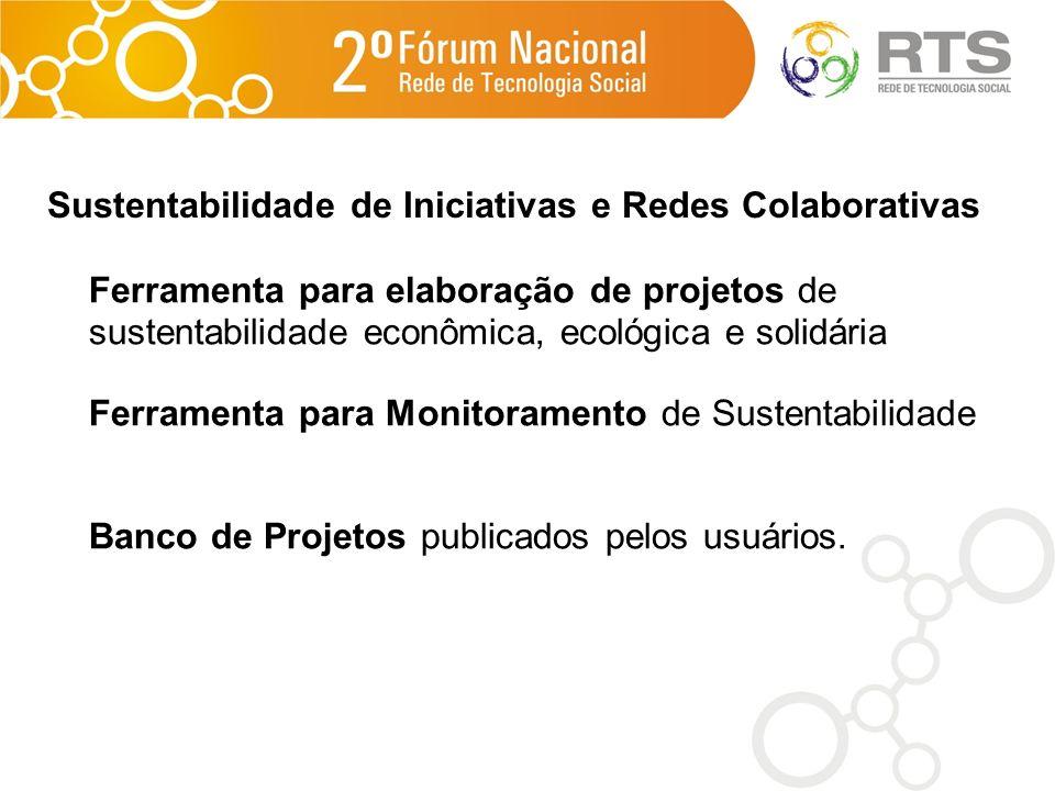 Sustentabilidade de Iniciativas e Redes Colaborativas
