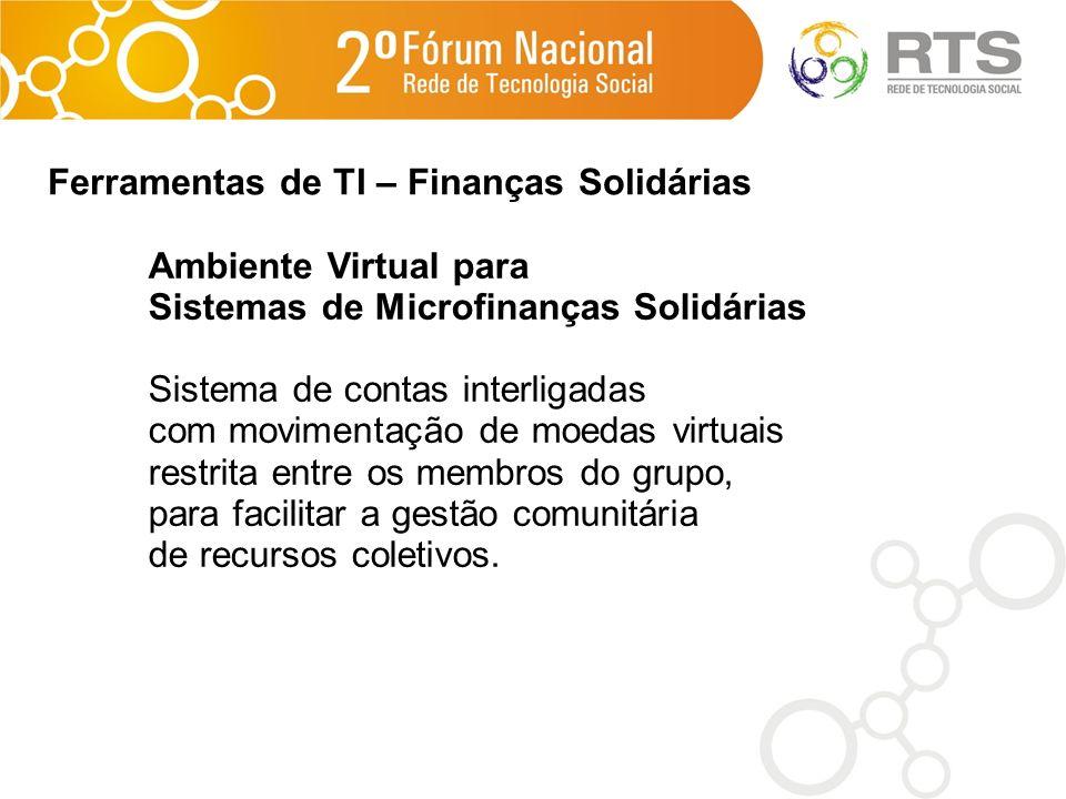 Ferramentas de TI – Finanças Solidárias