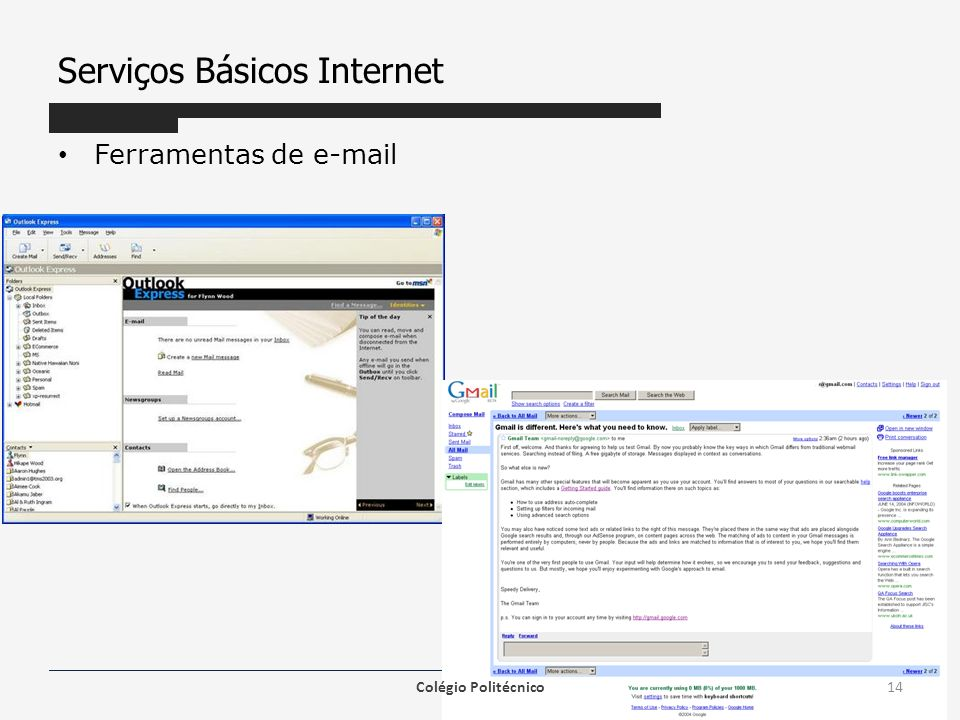 Serviços Básicos Internet