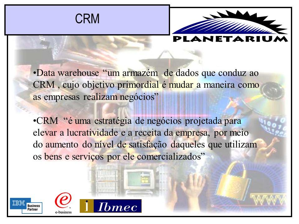 CRM Data warehouse um armazém de dados que conduz ao CRM , cujo objetivo primordial é mudar a maneira como as empresas realizam negócios