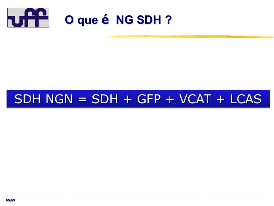 SDH NGN = SDH + GFP + VCAT + LCAS