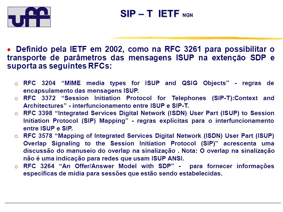 SIP – T IETF NGN