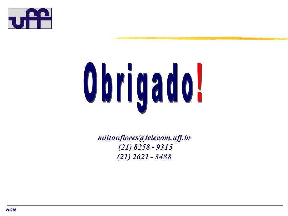 Obrigado! miltonflores@telecom.uff.br (21) 8258 - 9315