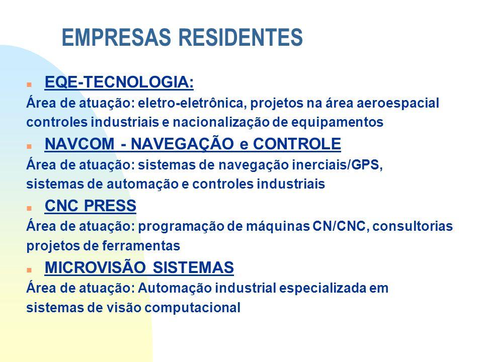 EMPRESAS RESIDENTES EQE-TECNOLOGIA: NAVCOM - NAVEGAÇÃO e CONTROLE