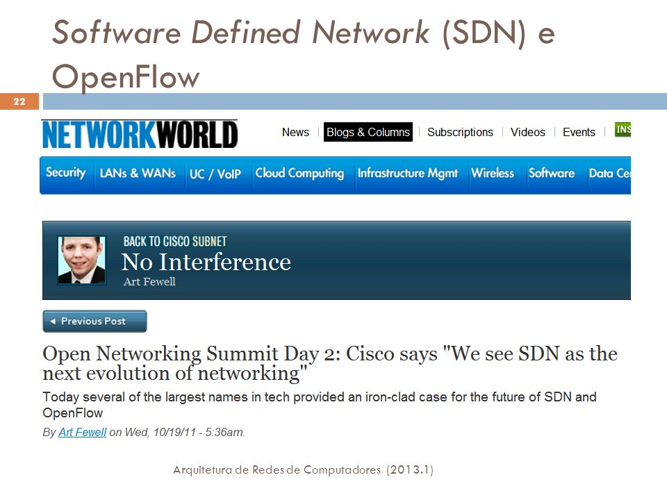 Software Defined Network (SDN) e OpenFlow
