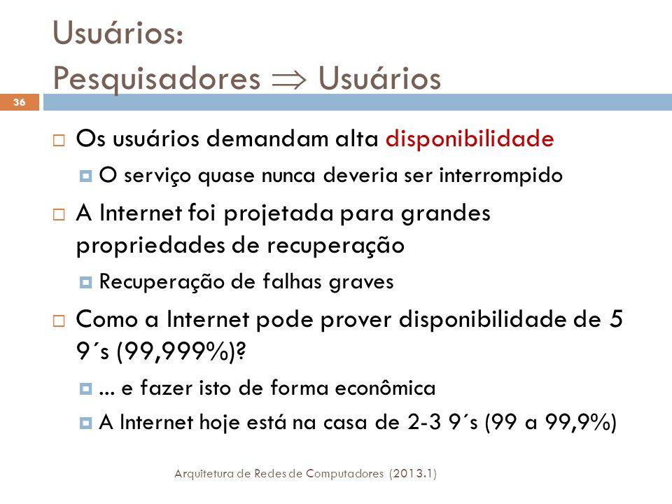 Usuários: Pesquisadores  Usuários