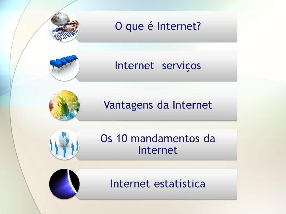 Os 10 mandamentos da Internet