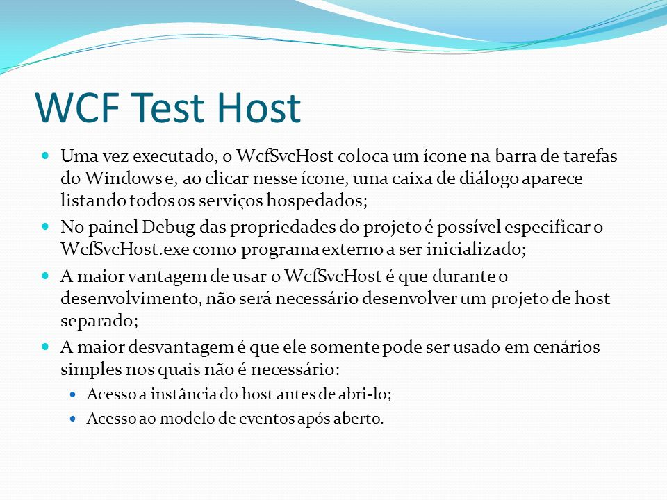 WCF Test Host