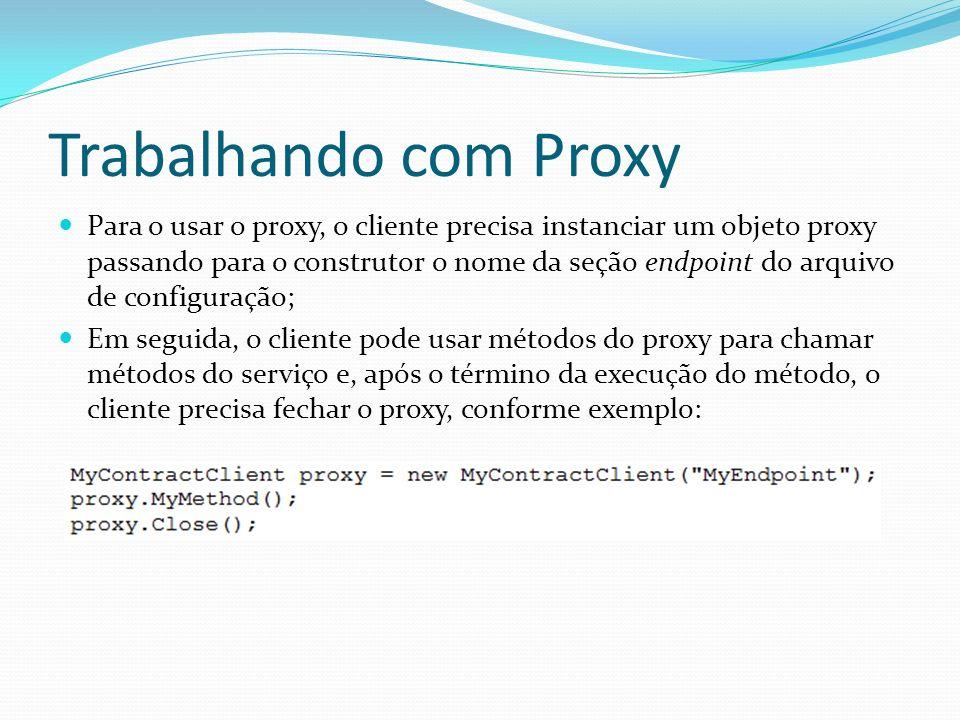 Trabalhando com Proxy