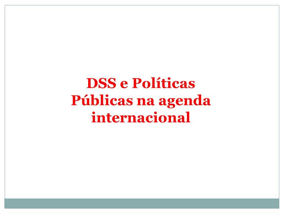 DSS e Políticas Públicas na agenda internacional