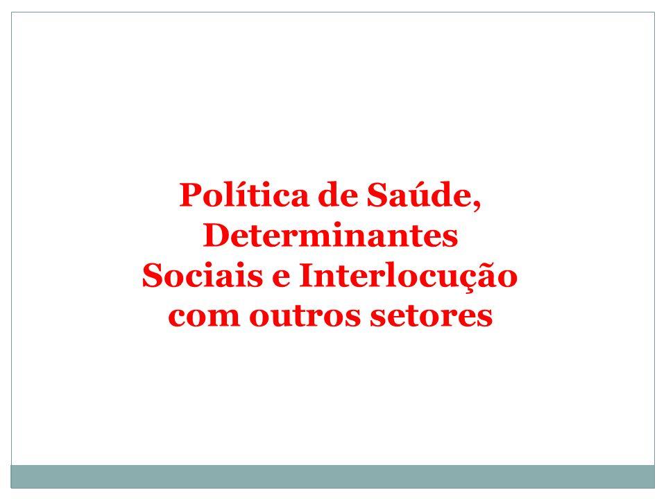 Política de Saúde, Determinantes Sociais e Interlocução com outros setores