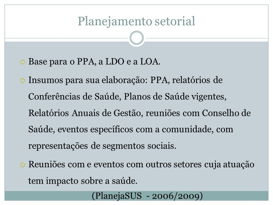 Planejamento setorial