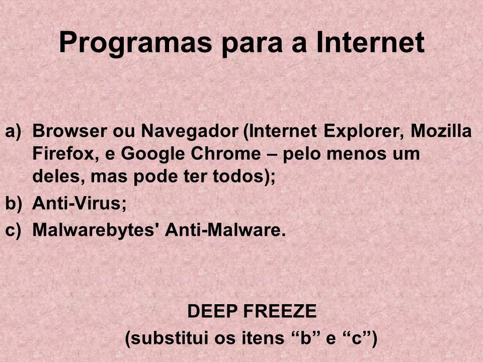 Programas para a Internet