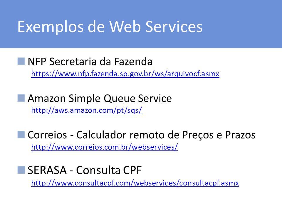 Exemplos de Web Services