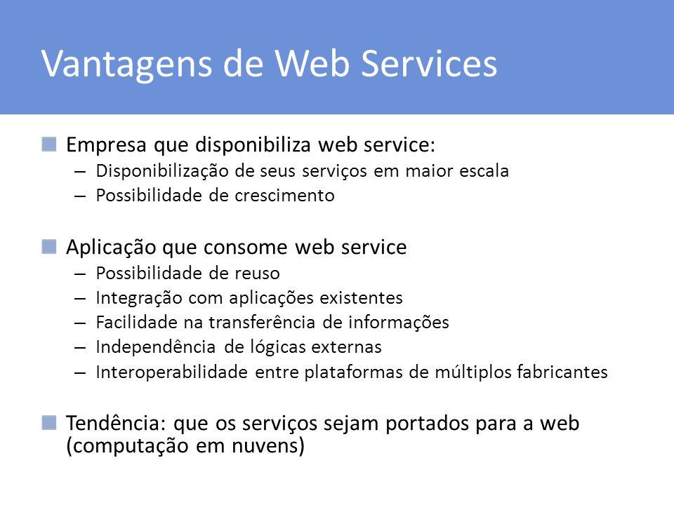Vantagens de Web Services