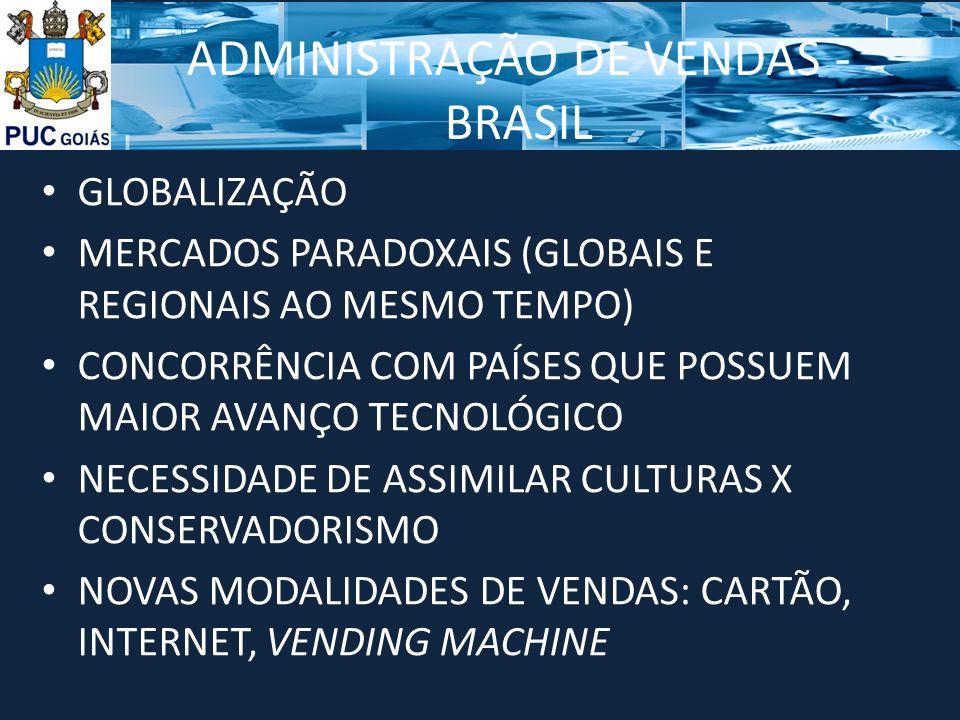 ADMINISTRAÇÃO DE VENDAS - BRASIL