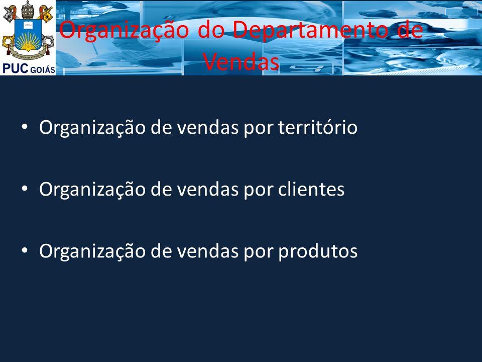 Organização do Departamento de Vendas