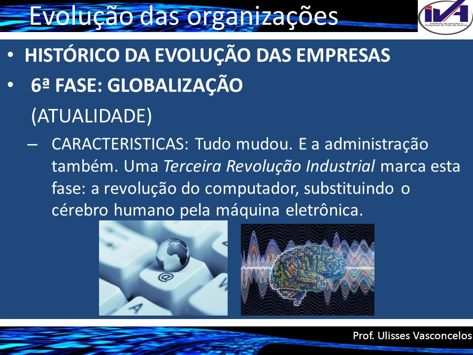 Evolução das organizações