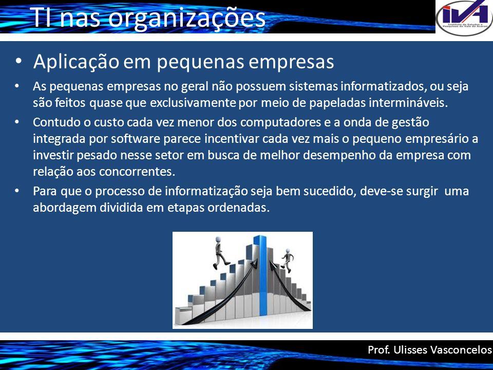 TI nas organizações Aplicação em pequenas empresas