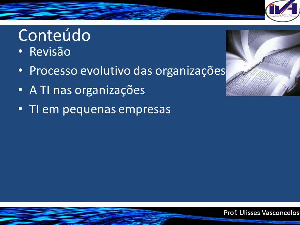 Conteúdo Revisão Processo evolutivo das organizações