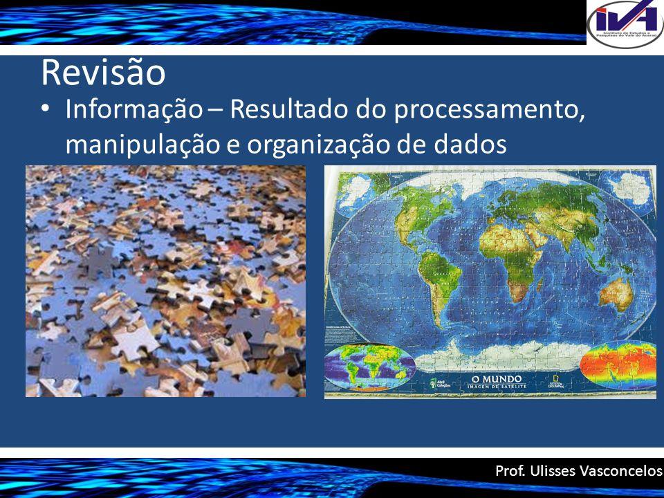 Revisão Informação – Resultado do processamento, manipulação e organização de dados.