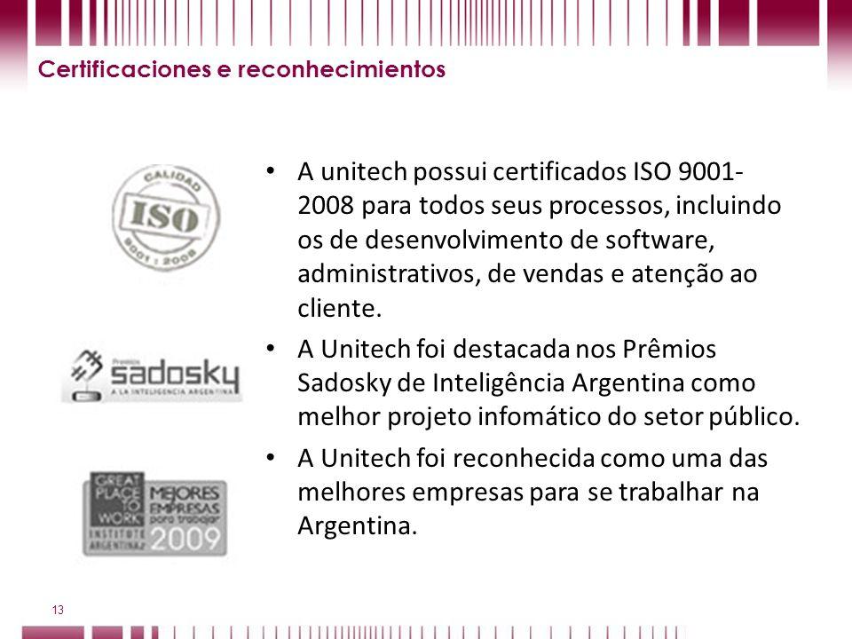 Certificaciones e reconhecimientos