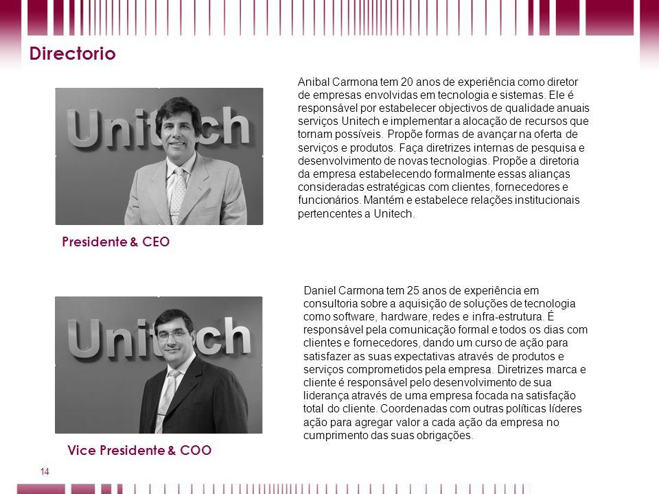 Directorio Presidente & CEO Vice Presidente & COO