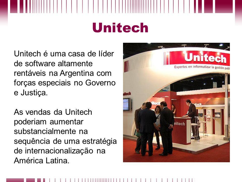 UnitechUnitech é uma casa de líder de software altamente rentáveis na Argentina com forças especiais no Governo e Justiça.